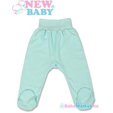 NEW BABY Lábfejes baba nadrág - New Baby türkiz 68 (4-6 hó)