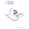 NEW BABY Luxus gyerek törölköző (kifogó)  New Baby Zebra 90x90cm fehér | Fehér |