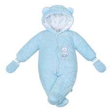 NEW BABY | New Baby Nice Bear | Téli kezeslábas New Baby Nice Bear kék | Kék | 68 (4-6 h)