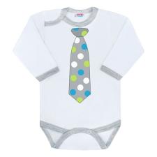 NEW BABY   New Baby Nyakkendő   Body nyomtatott mintával New Baby pöttyös nyakkendővel   Szürke   56 (0-3 h) nyakkendő