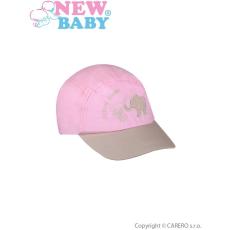 NEW BABY Nyári gyermek baseball sapka New Baby Animal Friend világos rózsaszín
