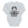 NEW BABY | Nyomtatott mintával | Body nyomtatott mintával New Baby Moto baby szürke | Szürke | 80 (9-12 h)