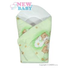 NEW BABY Pólya New Baby zöld maci   Zöld   pólya
