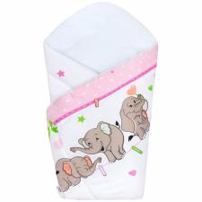 NEW BABY Pólyakendő New Baby rózsaszín elefántos pólya