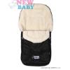 NEW BABY Téli lábzsák New Baby Classic Wool fekete   Fekete  