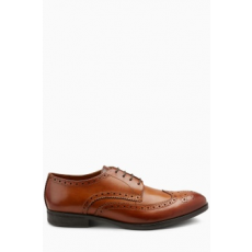 Next , Bőr brogue cipő, Fahéjbarna, 7 (553892-BROWN-7 EU 41)