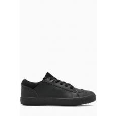 Next , Brogue bőr sneakers cipő, Fekete, 38 EU (554486-BLACK-5 EU 38)