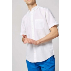 Next , Regular fit len tartalmú oxford ing, Fehér, XXL (367912-WHITE-XXL)