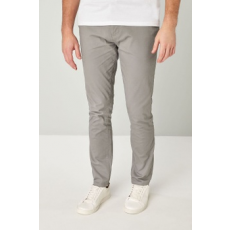 Next , Slim Fit Chino nadrág, Fenyőzöld, 26 (638681-GREY-26R)