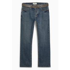Next , Slim fit farmernadrág övvel, Kék, 32L (178674-BLUE-32L)