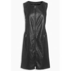 Next TBC NEXT Black Leather Look Dress 8 (702806-BLACK-8)