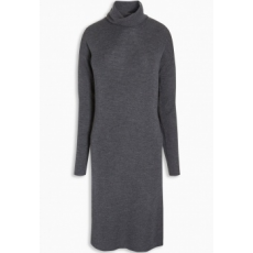 Next TBC NEXT Merino Roll Neck Dress 12 (960102-GREY-12)