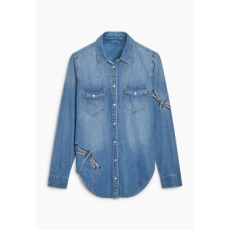 Next TBC NEXT Mid Blue Embroidered Dragonfly Shirt 10 (447219-BLUE-10)