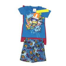 Nickelodeon fiú Pizsama - Spongyabob #kék-bordó gyerek hálóing, pizsama