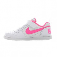 Nike Court Borough Low gyerek sportcipő, White/Pink Blast, 31 (870028-100-13c)