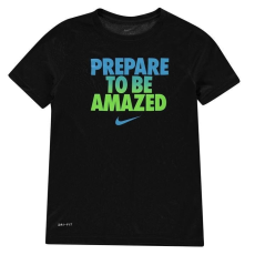 Nike gyerek póló - Nike Dry Amazed Crew T Shirt Junior Boys Black