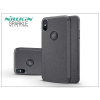 Nillkin Apple iPhone X oldalra nyíló flipes tok - Nillkin Sparkle Logo - fekete