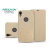Nillkin Apple iPhone XR oldalra nyíló flipes tok - Nillkin Sparkle Logo - gold