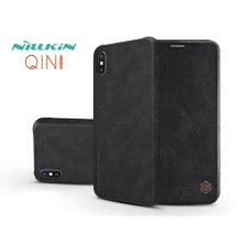 Nillkin Apple iPhone XS Max oldalra nyíló flipes tok - Nillkin Qin - fekete tok és táska