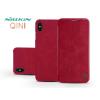 Nillkin Apple iPhone XS Max oldalra nyíló flipes tok - Nillkin Qin - piros