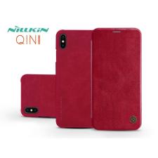 Nillkin Apple iPhone XS Max oldalra nyíló flipes tok - Nillkin Qin - piros tok és táska