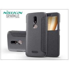 Nillkin Lenovo Moto M oldalra nyíló flipes tok - Nillkin Sparkle - fekete tok és táska