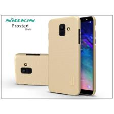 Nillkin Samsung A600F Galaxy A6 (2018) hátlap képernyővédő fóliával - Nillkin Frosted Shield - gold tok és táska