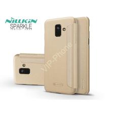 Nillkin Samsung A600F Galaxy A6 (2018) oldalra nyíló flipes tok - Nillkin Sparkle - gold tok és táska