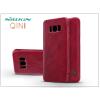 Nillkin Samsung G950F Galaxy S8 oldalra nyíló flipes tok - Nillkin Qin - piros