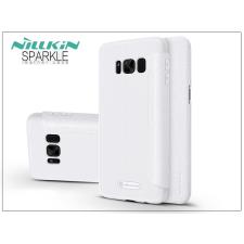 Nillkin Samsung G950F Galaxy S8 oldalra nyíló flipes tok - Nillkin Sparkle - fehér tok és táska