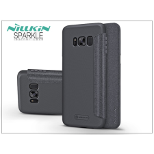 Nillkin Samsung G950F Galaxy S8 oldalra nyíló flipes tok - Nillkin Sparkle - fekete tok és táska