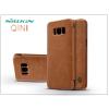 Nillkin Samsung G955F Galaxy S8 Plus oldalra nyíló flipes tok - Nillkin Qin - barna
