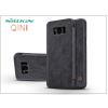 Nillkin Samsung G955F Galaxy S8 Plus oldalra nyíló flipes tok - Nillkin Qin - fekete
