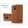 Nillkin Samsung G960F Galaxy S9 oldalra nyíló flipes tok - Nillkin Qin - barna