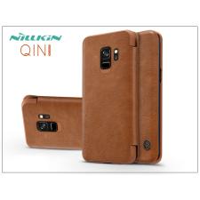 Nillkin Samsung G960F Galaxy S9 oldalra nyíló flipes tok - Nillkin Qin - barna tok és táska
