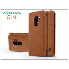 Nillkin Samsung G965F Galaxy S9 Plus oldalra nyíló flipes tok - Nillkin Qin - barna tok és táska