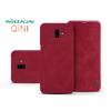 Nillkin Samsung J610F Galaxy J6 Plus oldalra nyíló flipes tok - Nillkin Qin - piros