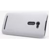 Nillkin Super Frosted édes műanyag hátlaptok kijelzővédő fóliával Asus ZE500CL Zenfone 2-höz fehér*