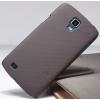 Nillkin Super Frosted érdes műanyag hátlaptok,kijelzővédő fólia Samsung i9295 GalaxyS4 Active barna*