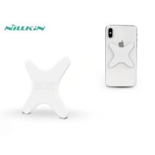 Nillkin Univerzális hátlapra felragasztható mágnes Qi vezeték nélküli autós tartóhoz - Nillkin Magnetic Plate - fehér mobiltelefon kellék