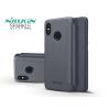 Nillkin Xiaomi Mi 8 oldalra nyíló flipes tok - Nillkin Sparkle - fekete