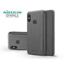 Nillkin Xiaomi Mi A2 Lite oldalra nyíló flipes tok - Nillkin Sparkle - fekete tok és táska