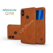 Nillkin Xiaomi Mi A2 oldalra nyíló flipes tok - Nillkin Qin - barna tok és táska