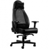 NOBLE CHAIRS Noblechairs ICON Gamer szék, Fekete/Fekete (NBL-ICN-PU-BLA)