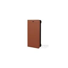 Nokia 8 gyári flip tok, barna, CP-801 tok és táska