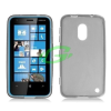 Nokia Lumia 620 füst színű szilikon tok