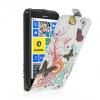 Nokia Lumia 625, Forcell lenyitható bőrtok, Slim Flip Design, felfelé nyíló - kinyitható, pillangó, fehér