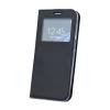 Nokia Smart Look Nokia 2 oldalra nyíló bőrhatású ablakos könyv tok szilikon belsővel fekete