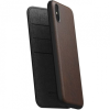 Nomad Folio Leather Case tok Apple iPhone XS Max - barna