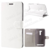 Notesz tok / flip tok - FEHÉR - asztali tartó funkciós, oldalra nyíló, rejtett mágneses záródás, bankkártya tartó, szilikon belsõ - ASUS ZenFone GO TV (ZB551K)